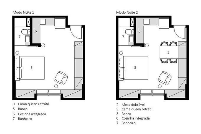 Sơ đồ 2D của căn hộ.