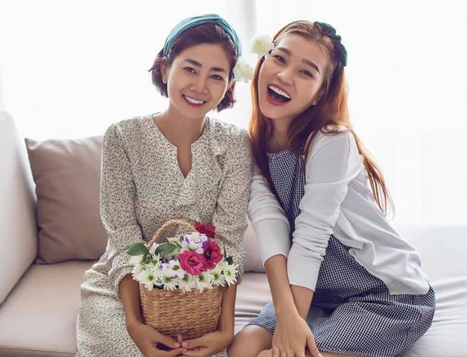 Mai Phương và Trương Bảo Như chụp ảnh kỷ niệm hồi tháng 8/2019.
