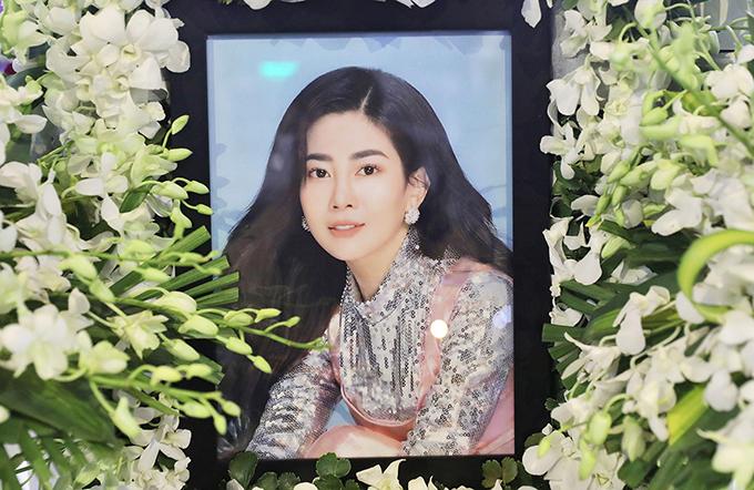 Di ảnh của diễn viên Mai Phương trong tang lễ sáng 31/3. Ảnh: Trần Quỳnh