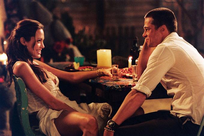 Angelina và Brad trong phim Ông bà Smith.