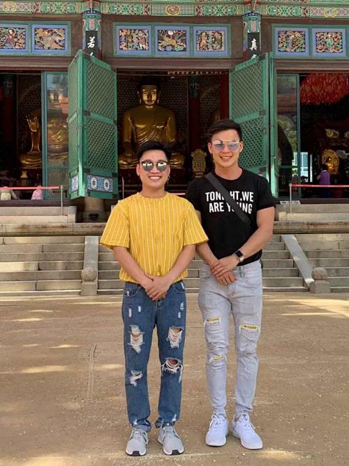 Don Nguyễn và Thanh Tú thích du lịch. Trong ảnh là chuyến đi Hàn Quốc của cả hai vào tháng 10/2019.