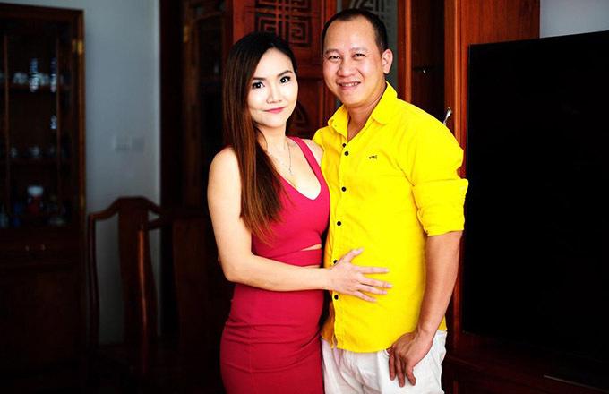Anh Thuý và ông xã - nhạc sĩ Bảo Huy.