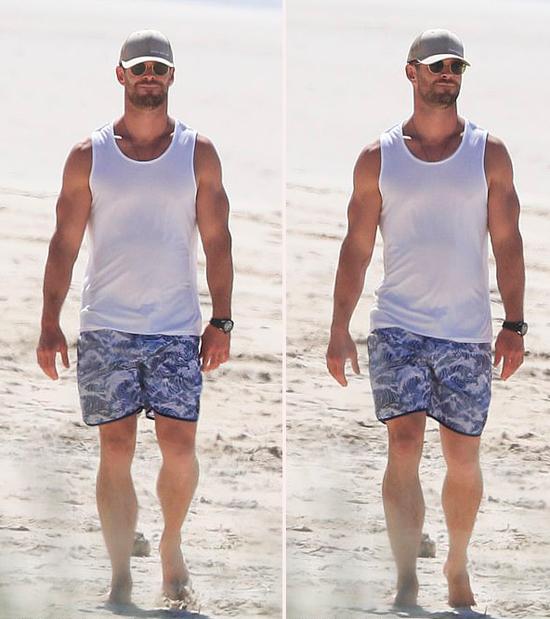 Ngôi sao Thor ở nhà cả tháng nay để tránh đại dịch Covid-19. Trong vòng một tháng qua, số người nhiễm bệnh ở Australia tăng chóng mặt từ hơn 100 người lên 5.795 tính đến ngày 6/4. Chính quyền đóng cửa các bãi biển trên khắp đất nước để tránh tình trạng đông người tụ tập. Chris Hemsworth may mắn có bãi biển trước nhà nên gia đình anh thoải mái ra đây đi dạo và bơi lội.
