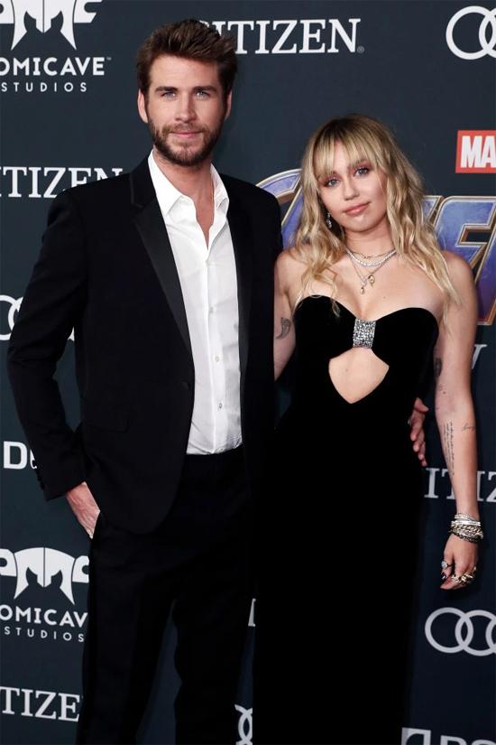 Liam và vợ cũ, Miley Cyrus.