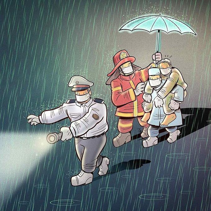 Tình hình dịch Covid-19 ngày càng diễn biến phức tạp. Tính đến tối 7/4, toàn thế giới đã có 1,362,200 ca nhiễm, trong đó 76.344 người chết. Đại dịch khiến cuộc sống của toàn thế giới đảo lộn. Các đội ngũ y bác sĩ, công an, cảnh sát, lính cứu hoả cũng đang ngày đêm làm việc không ngừng nghỉ.