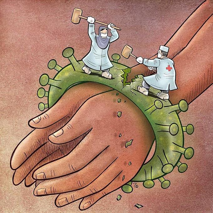 Các y bác sĩ nỗ lực đập tan gông cùm virus corona đang bủa vây người bệnh.