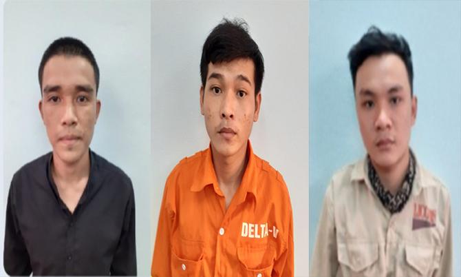 Từ trái qua Nguyễn Anh Tuấn.Võ Trung Huy Nguyễn Văn Sơn. Ảnh: Đại Hiệp.