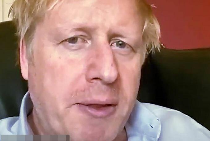 Thủ tướng Anh Boris Johnson hiện được chăm sóc tích cực trong bệnh viện sau 10 ngày nhiễm Covid-19. Ảnh: AP.