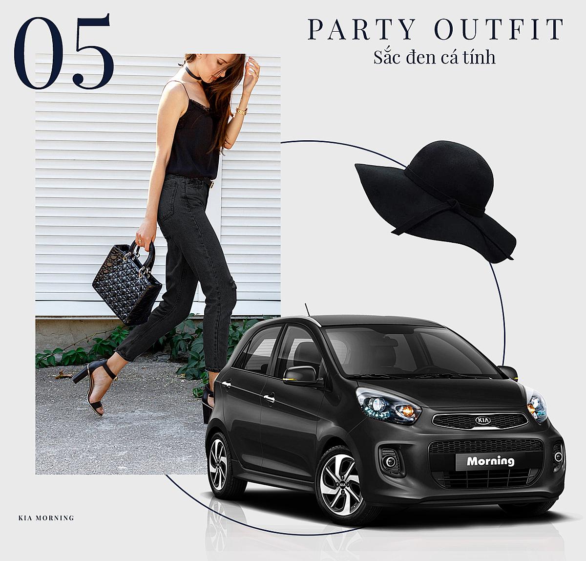 Những chiếc Kia Morning sắc đen phù hợp cho các cô nàng cá tính.
