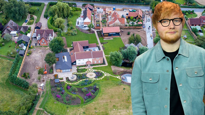 Biệt thự đồng quê của Ed Sheeran.
