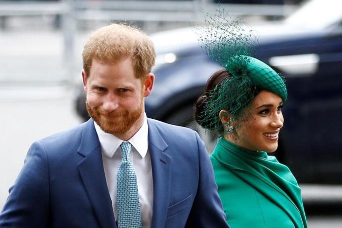 Nhà Sussex trong sự kiện hoàng gia cuối hôm 9/3 tại tu viện Westminster. Ảnh: Reuters.