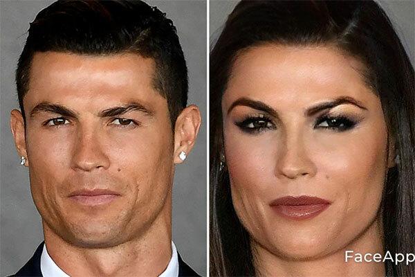 Siêu sao C. Ronaldo vẫn giữ gương mặt góc cạnh, nam tính khi thành nữ.