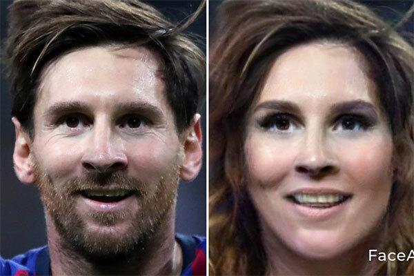 Messi sau khi cạo sạch râu, để tóc dài.