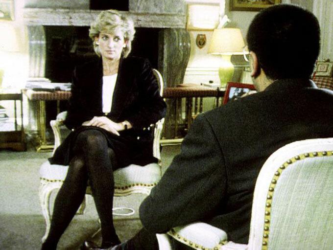 Công nương Diana trả lời phỏng vấn của Martin Bashir năm 1995. Ảnh: PA.