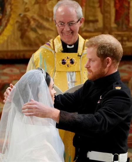 Vợ chồng Harry trong đám cưới hoàng gia hồi tháng 5/2018. Ảnh: WPA.