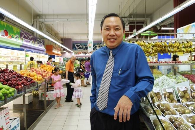 Lim Hock Chee, CEO chuỗi siêu thịSheng Siong. Ảnh: Straitstimes.
