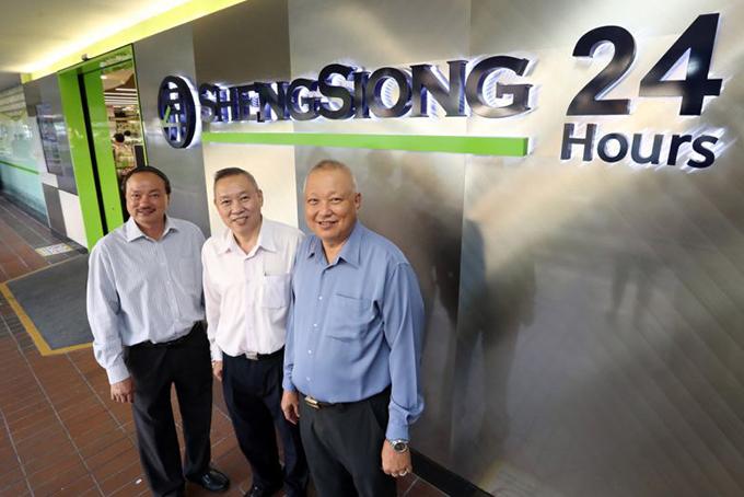 Ba anh em nhà họ Lim (từ trái sang): Lim Hock Leng, Lim Hock Chee và Lim Hock Eng. Ảnh: Straitstimes.