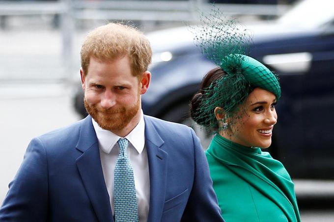 Vợ chồng Harry - Meghan dự sự kiện hoàng gia cuối ở tu viện Westminster hôm 9/3. Ảnh: Reuters.
