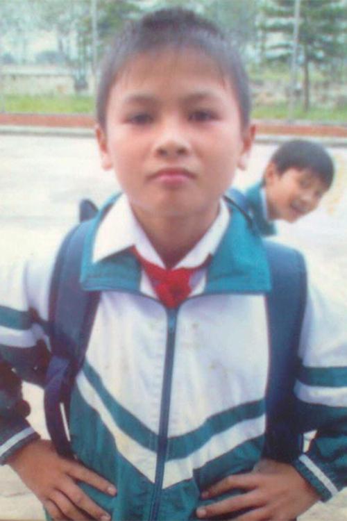 Quang Hải hồi còn là một cậu học sinh tiểu học.