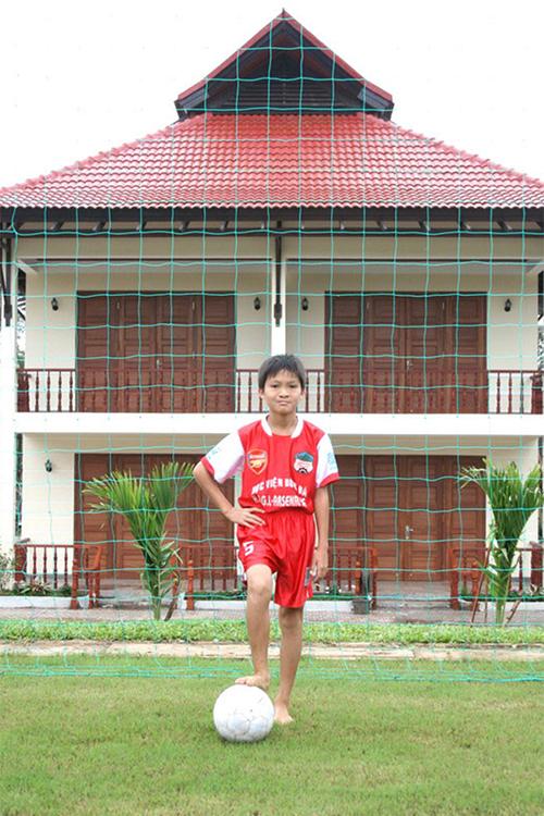 Tiền vệ Tuấn Anh khi mới gia nhập lò đào tạo trẻ của HAGL.