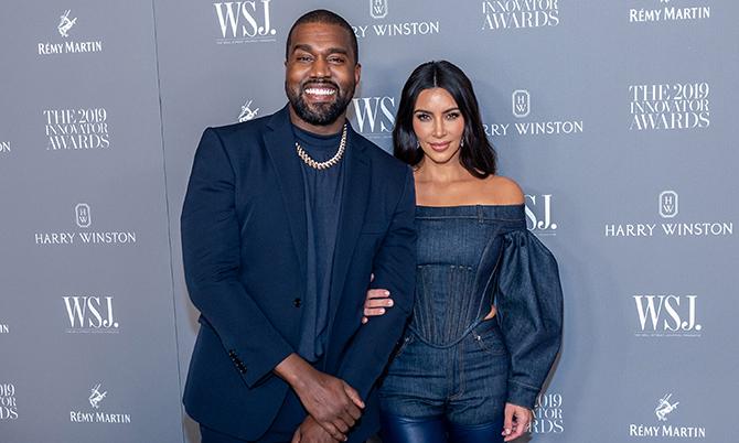 Vợ chồng rapperKanye West -KimKardashian. Ảnh: WSJ