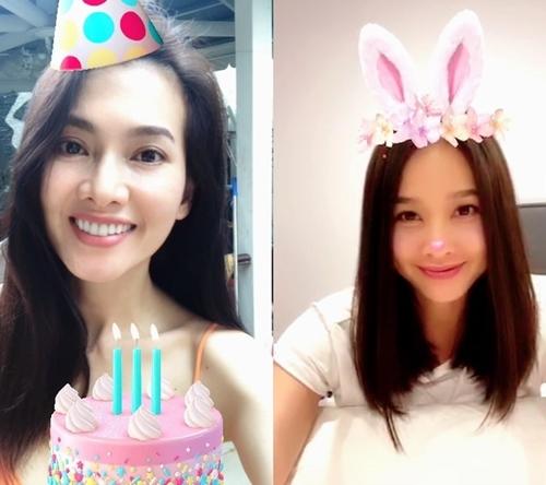 Dương Mỹ Linh cho biết, cô chọn giờ đẹp để gọi video mừng sinh nhật Anh Thư. Cả hai trò chuyện hồi lâu. Con trai của Anh Thư là bé Tiểu Long cũng tham gia bữa tiệc trực tuyến.