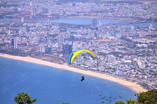 Biển Đà Nẵng nhìn từ trên cao.