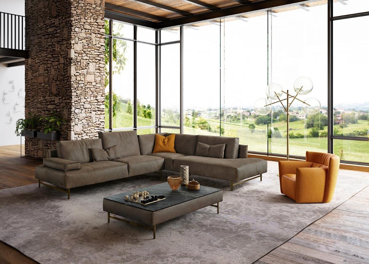 Là sự hợp nhất của nguyên lý thẩm mỹ đương đại và nhu cầu về sự thoải mái, chiếc ghế sofa Saks đến từ thương hiệu Gamma mang tông màu trầm trung tính, hệ thống module góc có tính ứng dụng cao. Phần lưng tựa có thể linh hoạt điều chỉnh để có thể mang đến cảm giác thoải mái.