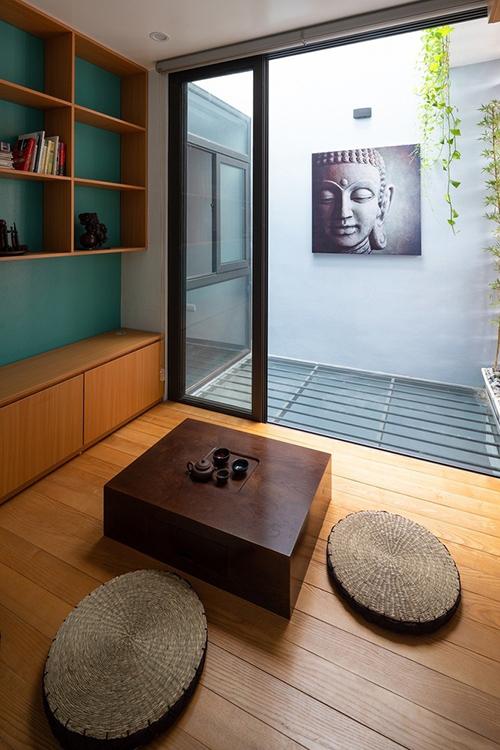 Căn nhà có phòng dành cho hoạt động trà đạo.