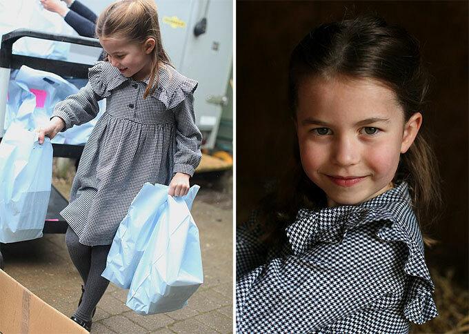 Công chúa Charlotte đi làm từ thiện cùng bố mẹ ít ngày trước 5 tuổi ở hạt Norfolk, Anh. Ảnh: Kate Middleton.