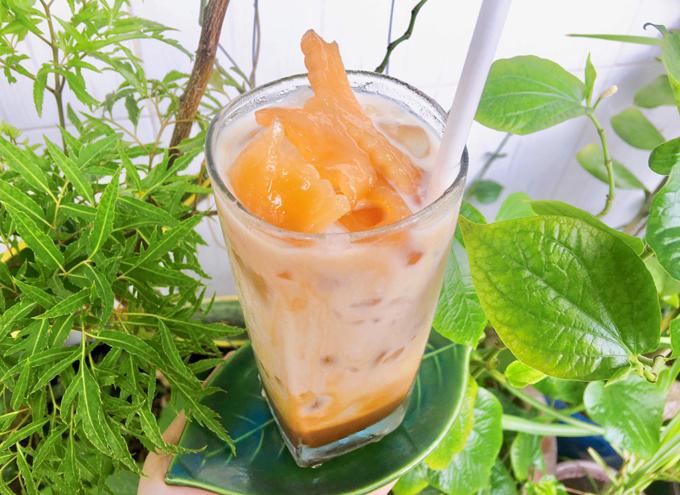 Cà phê sữa dừa rim