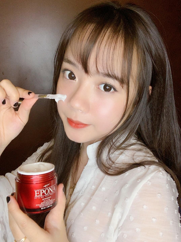 Hot Girl Kiều Trang cũng từng đăng đàn hướng dẫn cách sử dụng kem dưỡng Epona chuẩn Hàn.