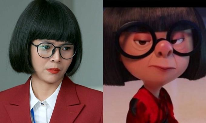 Khán giả ghép hình Diễm Hương với Edna Mode.