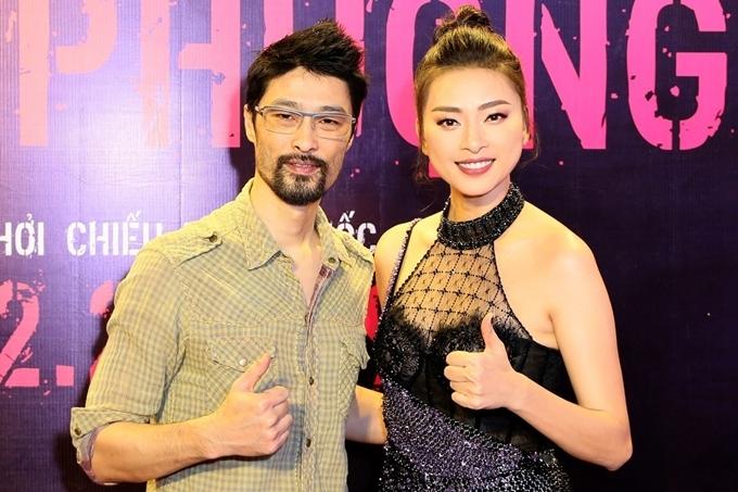 Johnny Trí Nguyễn đến mừng Ngô Thanh Vân ra mắt phim Hai Phượng hồi đầu năm 2019.