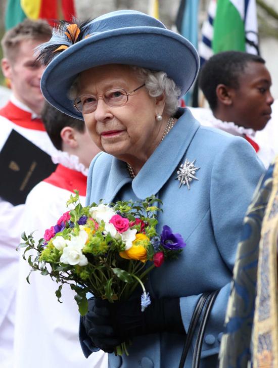 Nữ hoàng dự triển lãm hoaChelsea Flower Show hồi 2018. Ảnh: PA.