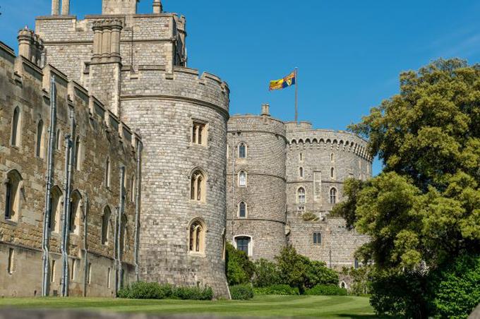 Lâu đài Windsor - nơi Nữ hoàng cùng chồng đang ở. Ảnh: Rex.