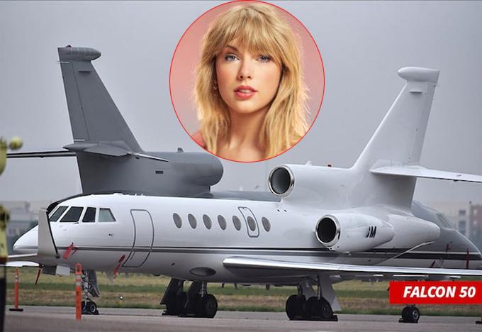Taylor Swift vừa bán chiếc máy bay Falcon 50.