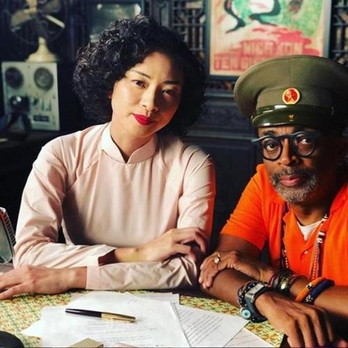 Ngô Thanh Vân và đạo diễn Spike Lee trên trường quay.