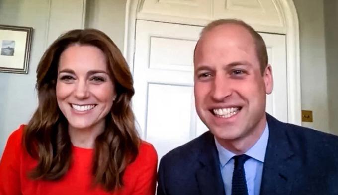 Nhà William - Kate năng sử dụng ứng dụng gọi qua video để tiếp tục các nhiệm vụ hoàng gia, đặc biệt ủng hộ đội ngũ Y tế quốc gia (NHS) giữa đại dịch Covid-19. Ảnh: Sun.