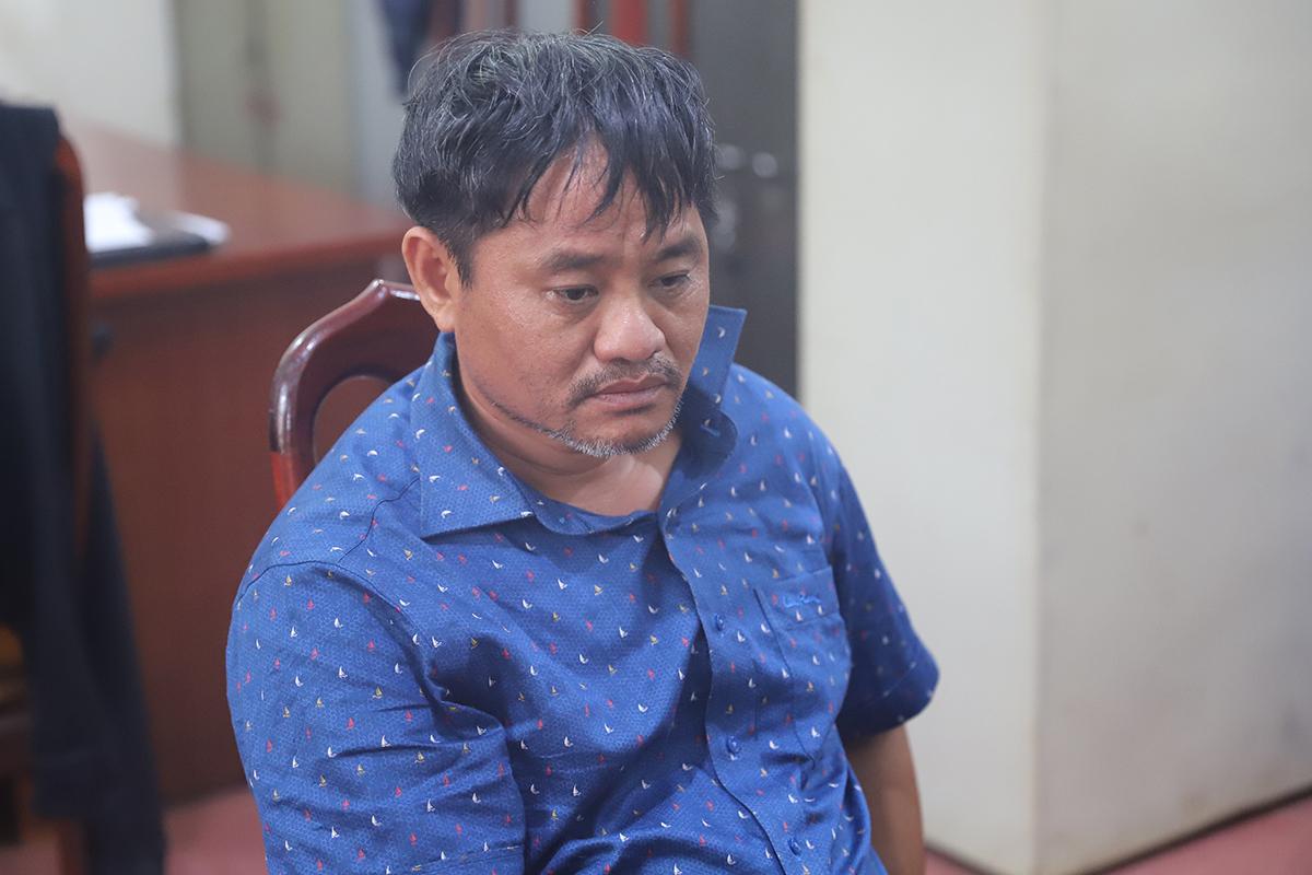 Ông Đỗ Văn Minh, hôm bị bắt. Ảnh: Công an cung cấp.