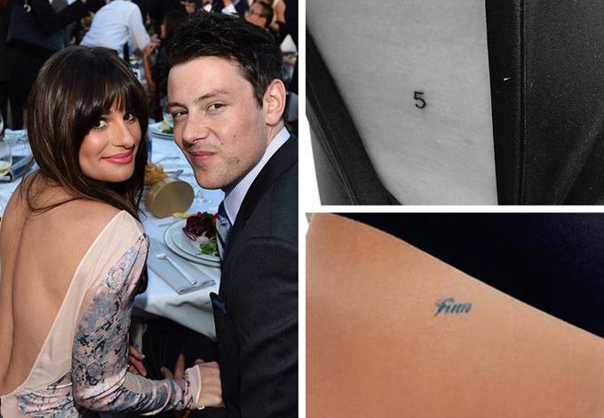 Để tưởng nhớ hôn phu Cory Monteith, Lea Michele đã xăm Finn và số 5 lên cơ thể. Đây là tên nhân vật và số áo mà Cory Monteith đảm nhiệm trong phim Glee. Ngoài ra, trên cơ thể của Lea còn một hình xăm khác cũng là câu nói cuối cùng mà nam diễn viên quá cố nói với Lea: If you say so (tạm dịch: Nếu em đã nói như vậy).