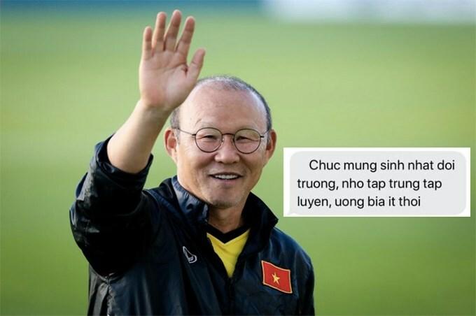 Quế Ngọc Hải tiết lộ tin nhắn HLV Park chúc mừng sinh nhật anh.