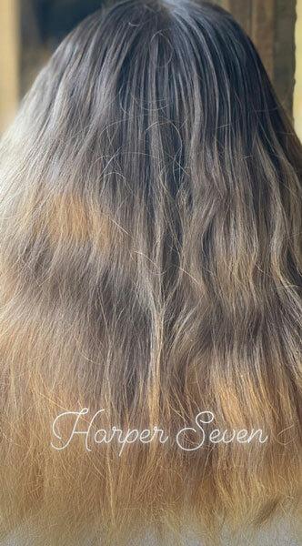 Mái tóc nhuộm ombre của Harper. Ảnh: Instagram.