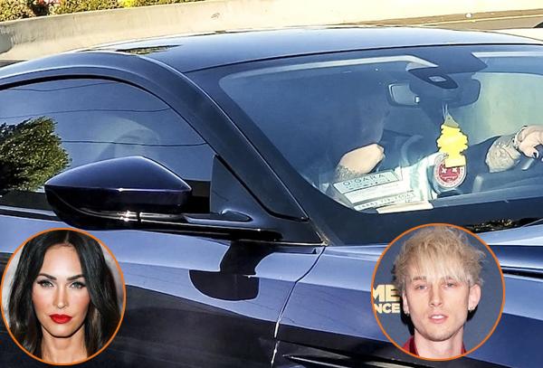 Megan Fox đưa rapper kém bốn tuổi về nhà hôm thứ sáu. Ảnh: Backgrid.