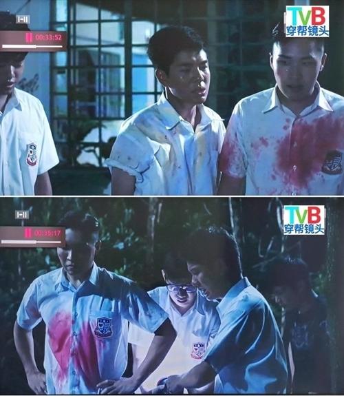 Vết máu trên áo đồng phục nam sinh tự dịch chuyển một cách thần kỳ.
