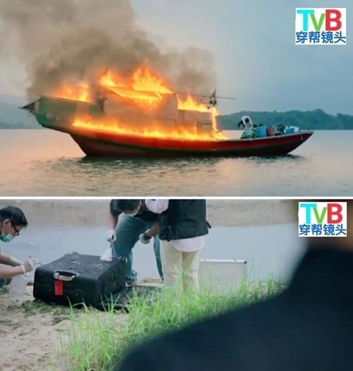 Trong một tập phim khác, chiếc vali còn nguyên vẹn dù được tìm thấy từ hiện trường vụ nổ tàu. Làm ơn cho xin thương hiệu vali!, fanpage Sạn Phim TVB bình luận đầy hài hước.