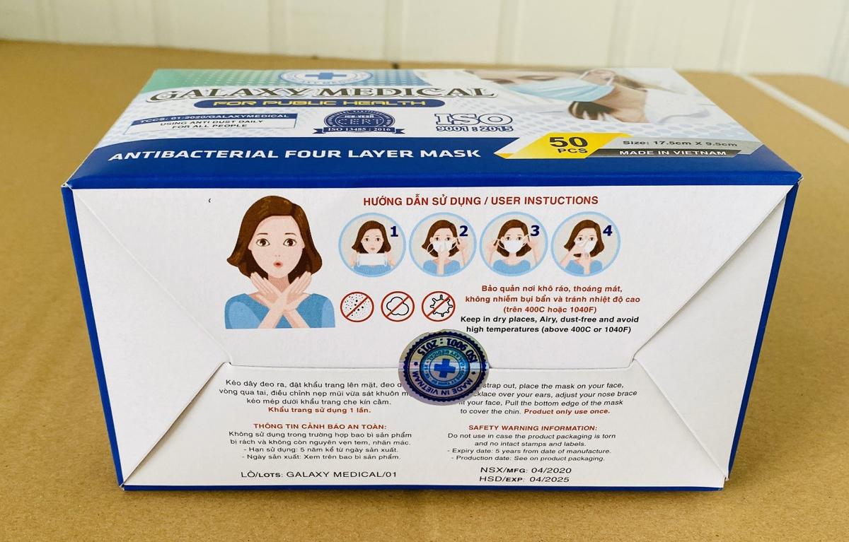 Hướng dẫn sử dụng được in rõ ràng trên hộp ngoài của sản phẩm.