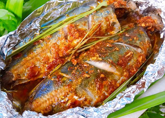 Cá nục nướng sả - 2