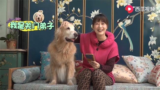 Châu Hải My và chó cưng.