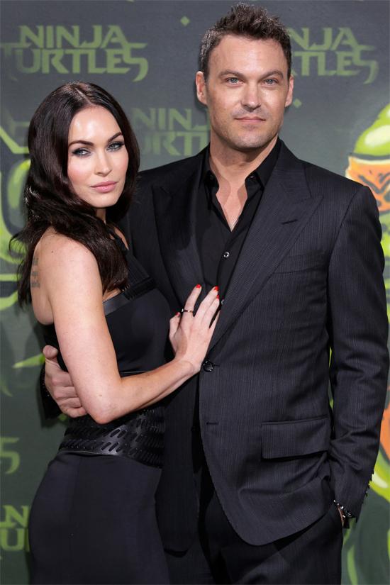 Megan Fox và chồng.